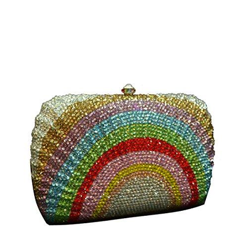 Multi Women's Luxury Banquet Crystal Handbag Women's Handbag Bag WqqcOvZPF