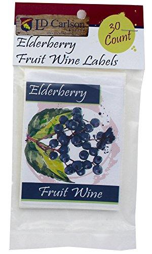 [Elderberry Fruit Wine Labels] (Fruit Wine Labels)
