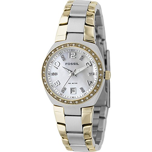 Ladies Glitz Watch (Fossil Women's AM4183 Serena Two-Tone Stainless Steel Watch with Link Bracelet)