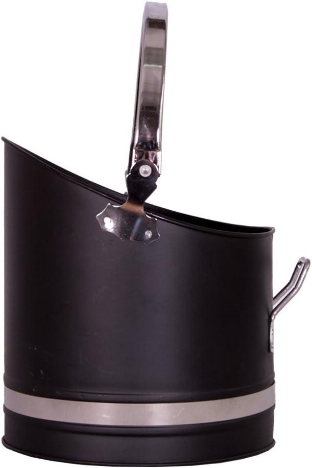 New Manor Black Pewter Fuel Coal Scuttle Bucket Hod Warwick 1396