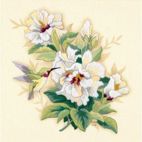Floral Crewel Kit - Brand New Hibiscus Floral Crewel Kit-12
