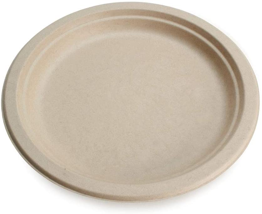 """Earth's Natural Alternative Eco-Friendly, Natural Compostable Plant Fiber 9"""" Plate, Natural, 125 Count: Kitchen & Dining"""