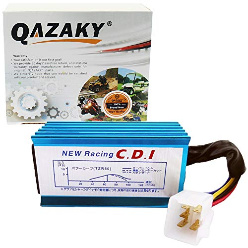 QAZAKY Performance Ignition Coil Starter Relay Solenoid AC CDI 90cc 110cc 125cc 150cc 4-stroke Engine Scooter ATV Go Kart Moped Quad Go Kart Pit Dirt Racing Bike 152QMI Spark Plug GY6 50cc