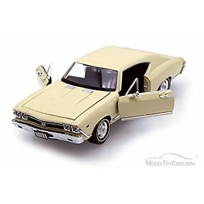 Welly 1968 Chevy Chevelle SS396 1/24 Scale Diecast Model Car Cream: Toys & Games