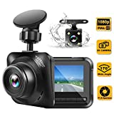 Dash Cam Car Camera Recorder FHD 1080P Front and Rear Cameras,Driving Loop Recording,2.2