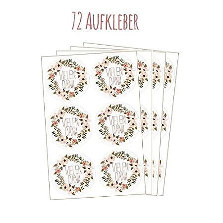24 Vielen Dank Aufkleber Sticker Zum Danke Sagen Ideal F Ur