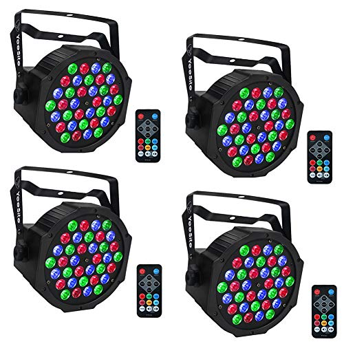 LED Par, YeeSite 36 LEDs RGB Stage Light with Remote Control DMX Lights for Church Wedding Stage Lighting - 4 ()
