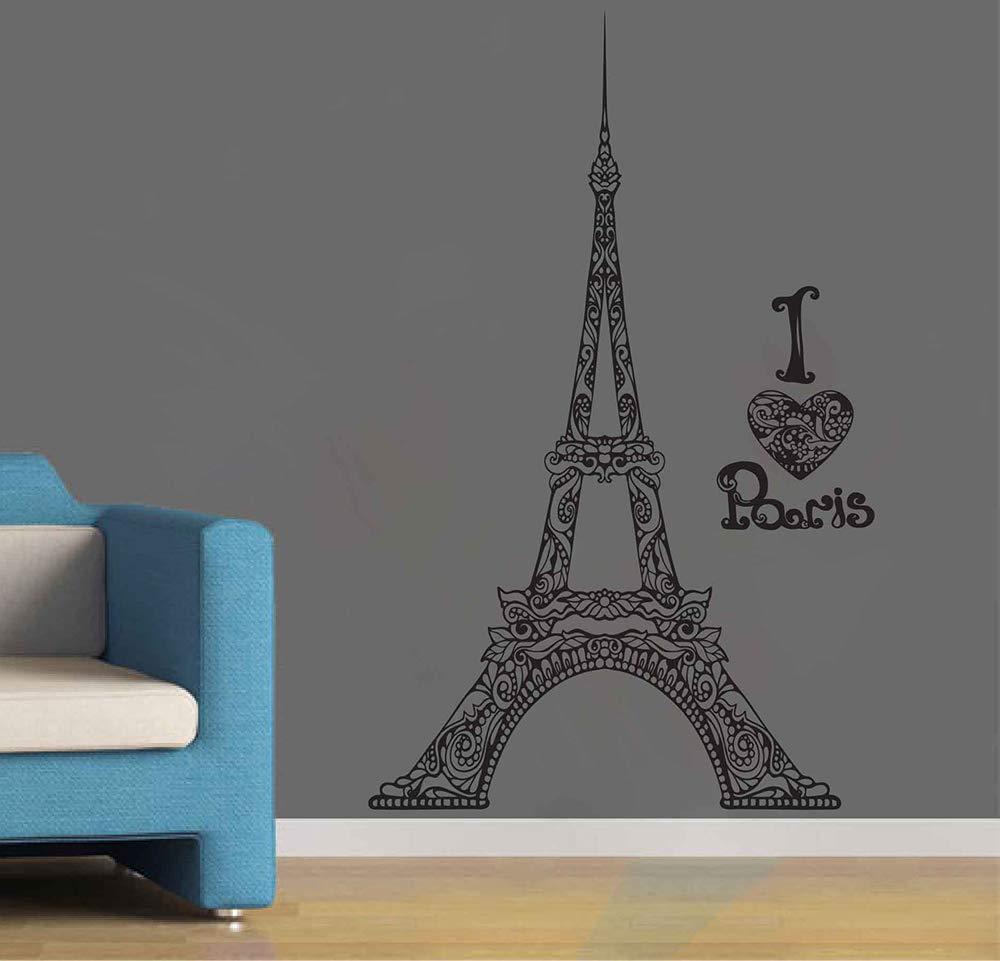Amazon Com Paris Wall Decals For Girls Room Paris Themed Wall Decals Paris Wall Decor Paris Wall Art Decor Eiffel Tower Wall Sticker France Bedroom Decor Ik3900 Handmade