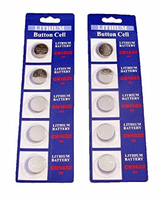 10 CR1632 Lithium 3V Watch Batteries