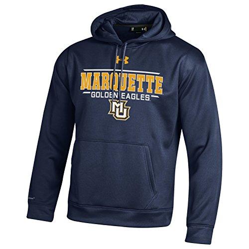 NCAA Marquette Golden Eagles Men's Armour Fleece Hoodie, XX-Large, Navy