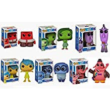 FunKo POP Disney/Pixar: Inside Out Set of 6: Anger, Sadness, Joy, Fear, Disgust, and Bing Bong