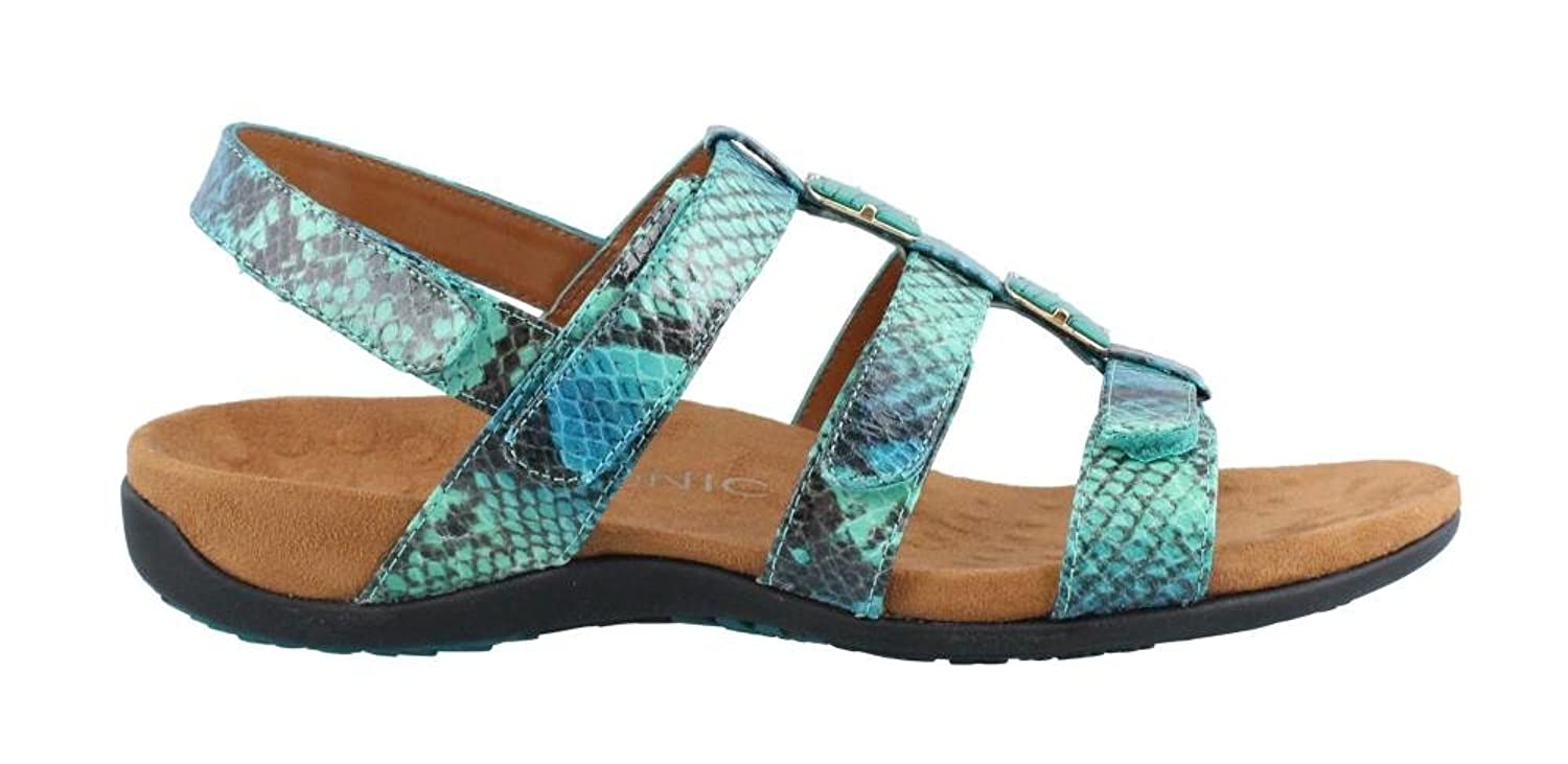 Amazon.com | Vionic with Orthaheel Technology Women's Amber Sandal, Teal  Snake, US 7 W | Flats
