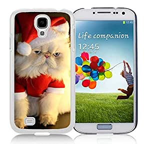 Fashion Style Samsung S4 TPU Protective Skin Cover Christmas Cat White Samsung Galaxy S4 i9500 Case 14
