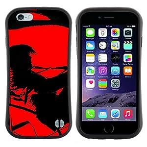 "Pulsar iFace Series Tpu silicona Carcasa Funda Case para Apple (4.7 inches!!!) iPhone 6 / 6S (4.7 INCH) , Contraste Negro Pintura vampiro solo"""