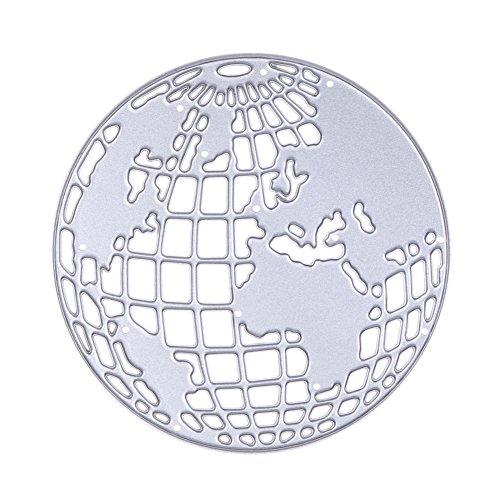 Whitelotous Cutting Dies Cut Dies Stencil Metal Template Mould for DIY Scrapbook Album Paper Card (Globe)