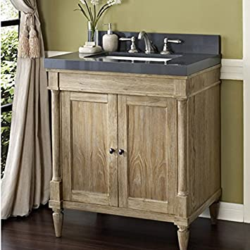Fairmont Designs 142 V30 Rustic Chic 30 Inch Vanity In Weathered Oak