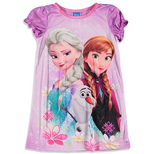 Frozen Gown Disney Little Girls' Frozen Gown (4, Purple) (Disney Frozen Gowns)