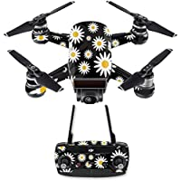 Skin for DJI Spark Mini Drone Combo - Daisies| MightySkins Protective, Durable, and Unique Vinyl Decal wrap cover | Easy To Apply, Remove, and Change Styles | Made in the USA