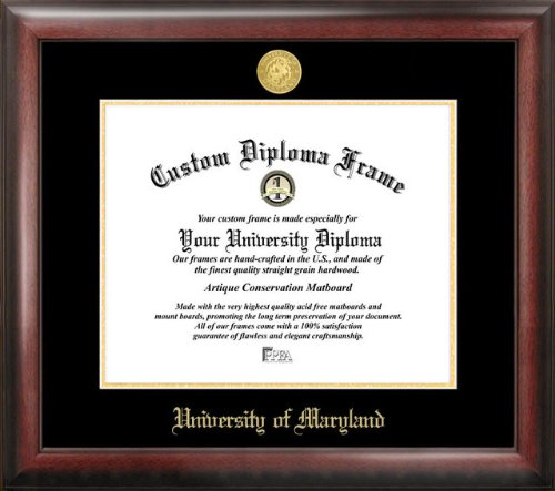 Campus Images ''University of Maryland Embossed Diploma'' Frame, 13'' x 17'', Gold