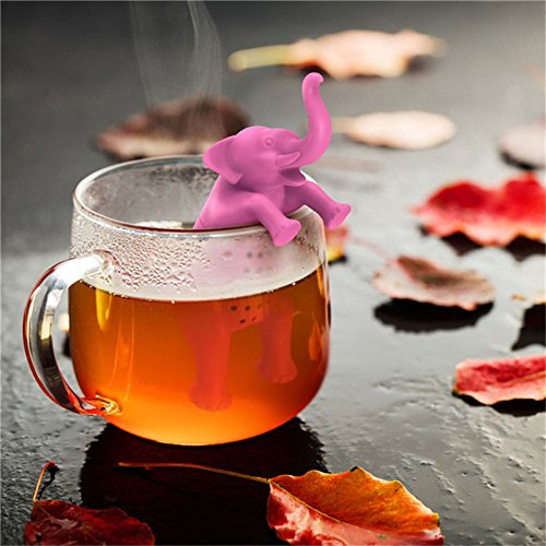 2 pcs Tea Infuser Silicone Animals Elephant Shape Mug Cup Loose Leaf Herb Spice Filter Tea Infuser for Tea & Coffee Drinkware Opportunity, gifts, souvenirs