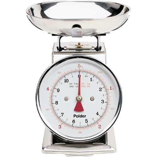 Polder Kitchen Scale: Professional Kitchen Scale Weighs Items Up To 11 Pounds