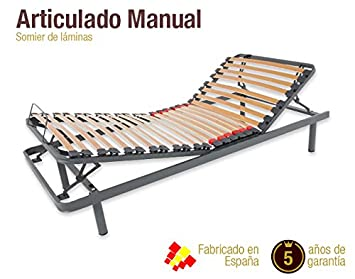 Naturconfort Somier Articulado Manual. DISPONIBLE EN TODAS LAS MEDIDAS (90 x 190 cm): Amazon.es: Hogar