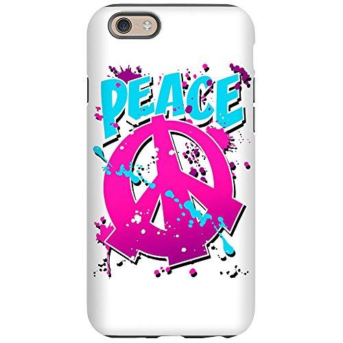 iPhone 6 Tough Case Peace Symbol Sign Splatter Neon (Sign Splatter Peace)