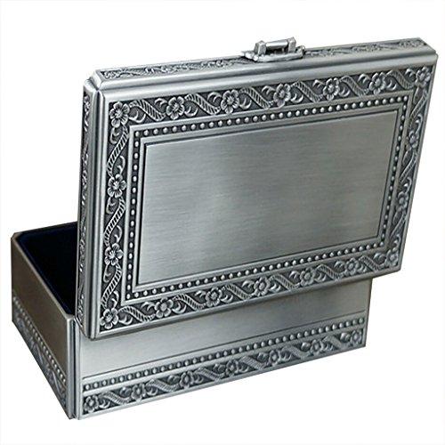 Unendlich U Minimalismus Gravur Damen Metalllegierung Rechteck Schmuckkasten Schmuckkoffer Schmuckkästchen Schmuckbox