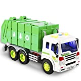 FEROXO Friction Powered Garbage Truck Toys 1:16 Toy Vehicle with Lights and Sounds for Kids