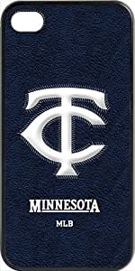 MLB Team Logo, Minnesota Twins Team Logo Case For Iphone 6 Plus (5.5 Inch) Cover (BlacMinnesota Twins 1
