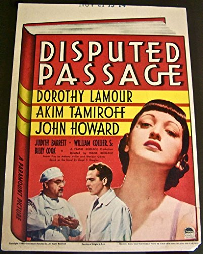 DISPUTED PASSAGE '39 MIDGET MINI WINDOW CARD ~ DOROTHY LAMOUR IS CHINESE