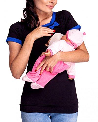 FONLONLON Premaman Donna T-Shirt T Shirt Allattamento Maglietta pr