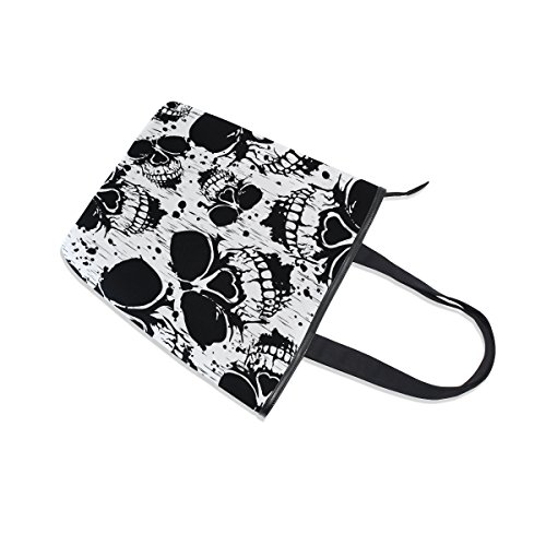 Bag Skull MyDaily Scary Womens Skeleton Tote Shoulder Canvas Handbag RtwwWcTAqy