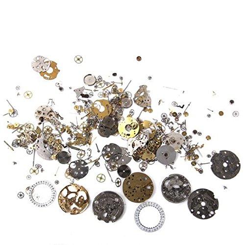 Beautiful Bead Steampunk Clock DIY Repair Parts Gears Jewelry Craft Gears Wheels