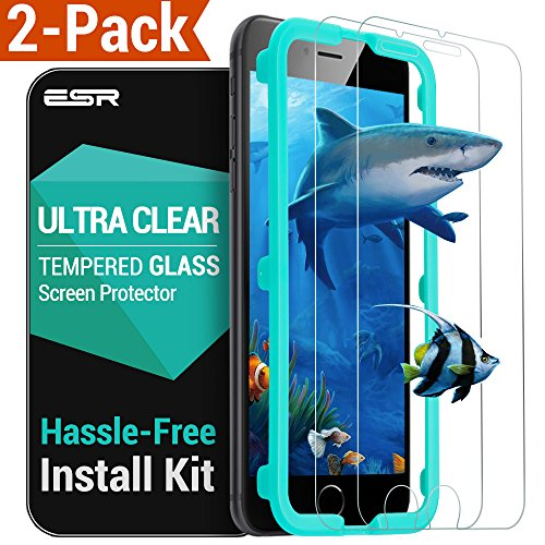 ESR Tempered Glass Screen Protector for iPhone 6s / 6 - Ultra Clear - Pack of 2