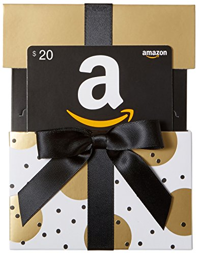 Amazon.com $20 Gift Card in a Gold Reveal (Classic Black Card Design)