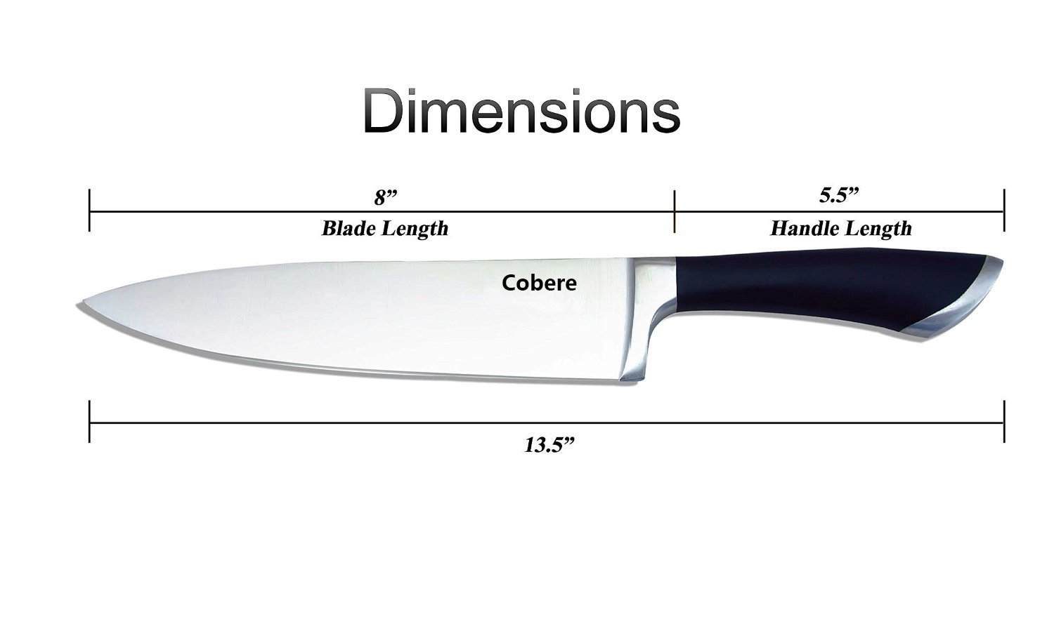 Amazon.com: Chef\'s Knife 8 Inch By Cobere - Super Sharp Cutlery ...