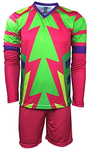 ee7d65b61 Geko Sports Brody Jorge Campos Goalkeeper Set Jersey and Shorts (Adult  Medium)