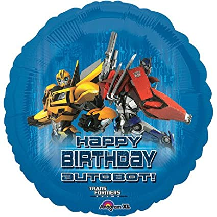 Amazoncom Happy Birthday Autobot Transformers Bumblebee Optimus