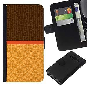 EJOY---La carpeta del tirón la caja de cuero de alta calidad de la PU Caso protector / Samsung Galaxy Core Prime / --Dos Tonos Marrón Beige