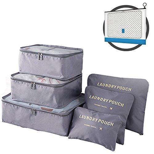 ptravel-travel-packing-organizers-cubes-laundry-bag-7pc-set-wb-gray