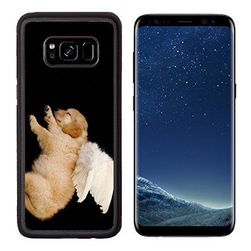 Angel Costume Without Halo (MSD Premium Samsung Galaxy S8 Aluminum Backplate Bumper Snap Case IMAGE ID: 3239335 innocent puppy wearing angel wing)