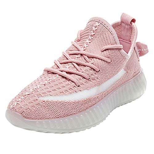 (AOJIAN Shoes Sneakers Workout Sports Casual Outdoor Breathable Mesh Lightweight Running Shoes for Women Pink)