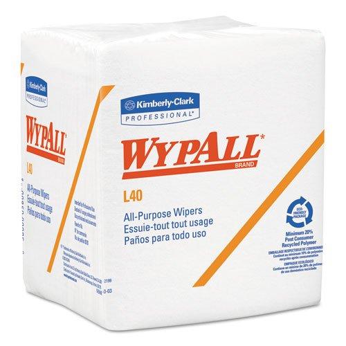 Wypall L40 Wipes (WypAll 05701 L40 Cloth-Like 1/4-Fold Wipers, 12-1/2 x 12, 56/Pack, 18 Pks/Carton)