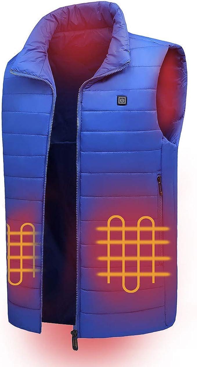 VICV2RO Gilet chauffant pour homme et femme lavable USB Rechargeable pour v/êtements chauffants dhiver avec 3 temp/ératures pour le ski la chasse le camping la randonn/ée