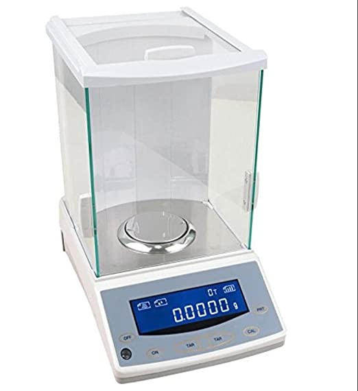 YJINGRUI Balanza analítica/Báscula de laboratorio digital/Báscula electrónica de precisión/Gamma 120g x 0.0001g / para joyería de laboratorio, metales preciosos, cocinas, etc. 220V: Amazon.es: Industria, empresas y ciencia