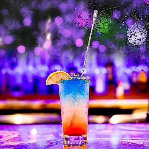 Mischen Lange Löffel Edelstahl Bar Mixer Barware Cocktail DIY Trinken Obst Muddler Zerkleinert