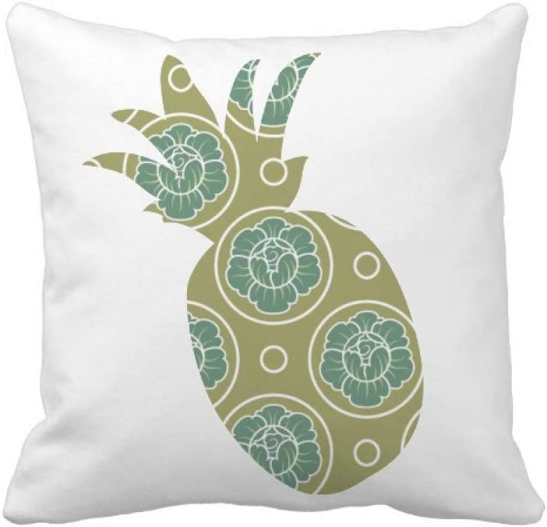 Amazon Com Green Cabbage Decorative Pattern Plants Pineapple Throw Pillow Square Cover Home Kitchen