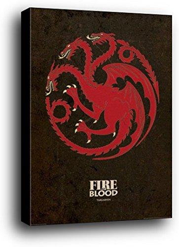 Juego De Tronos Cartel Montado En Madera - Casa Targaryen ...