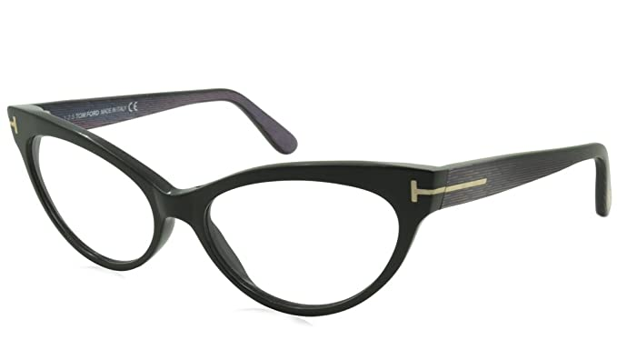Amazon.com: Tom Ford FT5317 005 Eyeglasses Frame, Black/Magenta, 54 ...